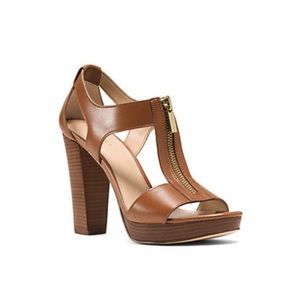 Michael Kors Berkley Lock Leather Platform Sandal